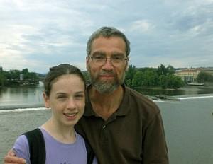 Stivenas Baskervilis su viena iš dukrų | phc.edu nuotr.