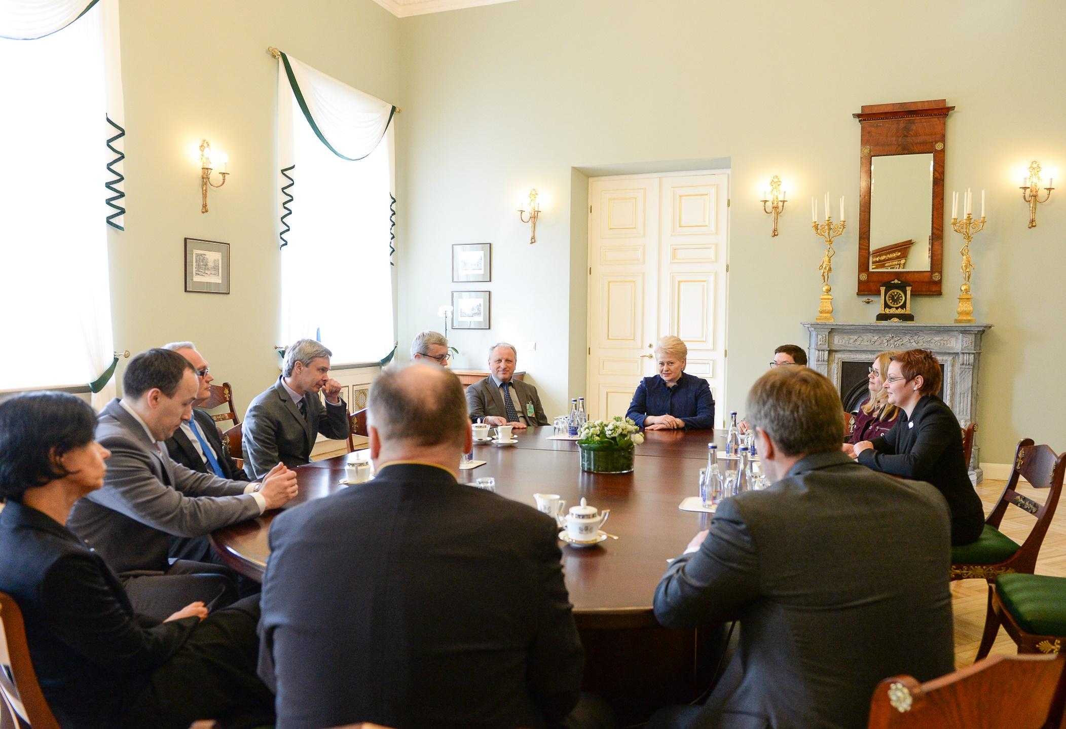 Prezidentė susitinka su LRT vadovais | R.Dačkaus nuotr.