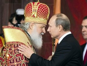 Vladimiras Putinas ir Kirilas | AP nuotr.