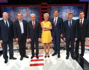 Kandidatai į Lietuvos prezidentus LNK TV laidoje | lnk.lt nuotr.