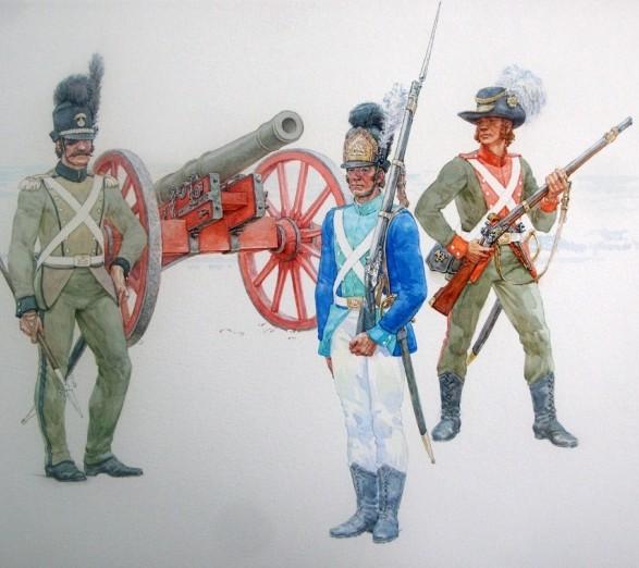 Lietuvos Didžiosios Kunigaikštystės kariai 1792 m. | kam.lt iliustracija