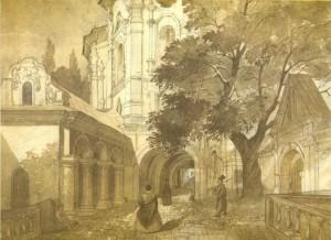 Taras Ševčenko.Visų šventųjų bažnyčia Kijeve. Pečersk lavra.
