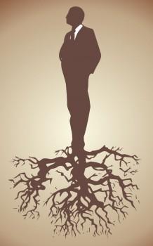 Žmogus su šaknimis | Dail. John LeMasney, 365sketches.org (cc)
