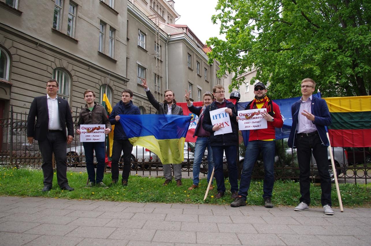 Palaikymo mitingas prie Ukrainos ambasados | Alkas.lt, A.Rasakevičiaus nuotr.