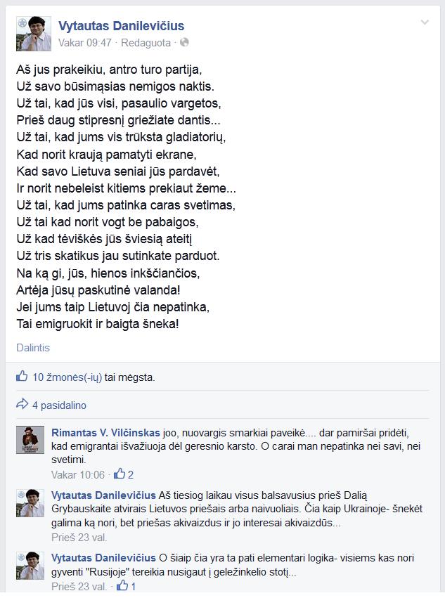 V. Danilevičiaus poezija