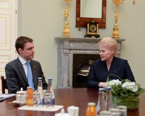 Prezidentės susitikimas su naujuoju Estijos Ministru Pirmininku Taavi Roivas | D.Račkaus nuotr.