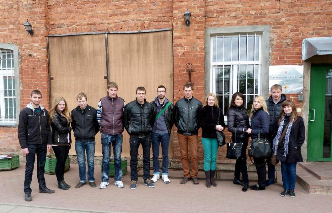 Panevėžio technologijų ir verslo fakulteto studentai kartu su dėstytoja Jūrate Baltušnikiene lankėsi Panevėžio pataisos namuose   asmeninė nuotr.