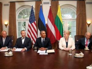 2013-08-30 Baltijos šalių prezidentų susitikimas su B.Obama Vašingtone | lrp.lt, R.Dačkaus nuotr.