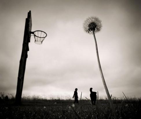 """Apie krepšinį ir kitus demonus."" Dzūkija, 2010 m. Mindaugo Gabrėno fotografija"