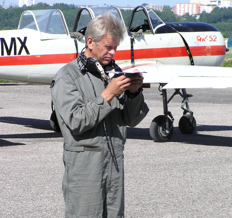 V.Galvono antžeminis pasirengimas skrydžiui | asmen. nuotr.