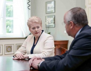 D.Grybauskaitė ir J.Olekas   lrp.lt, R.Dačkaus nuotr.