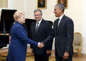 D. Grybauskaitė, B. Komorovskis ir B.Obama | lrs.lt, R. Dačkaus nuotr.