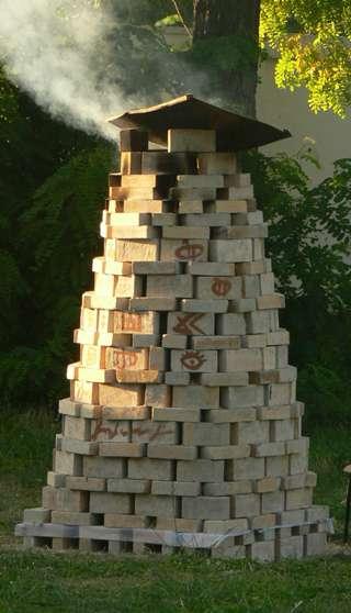 Keramiko Tomo J. Daunoros keramikos krosnis-stulpas | T.J.Daunoros nuotr.