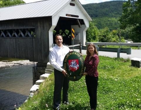 Žygimantas Pavilionis ir Keri Sikrest Vermonte | urm.lt nuotr.