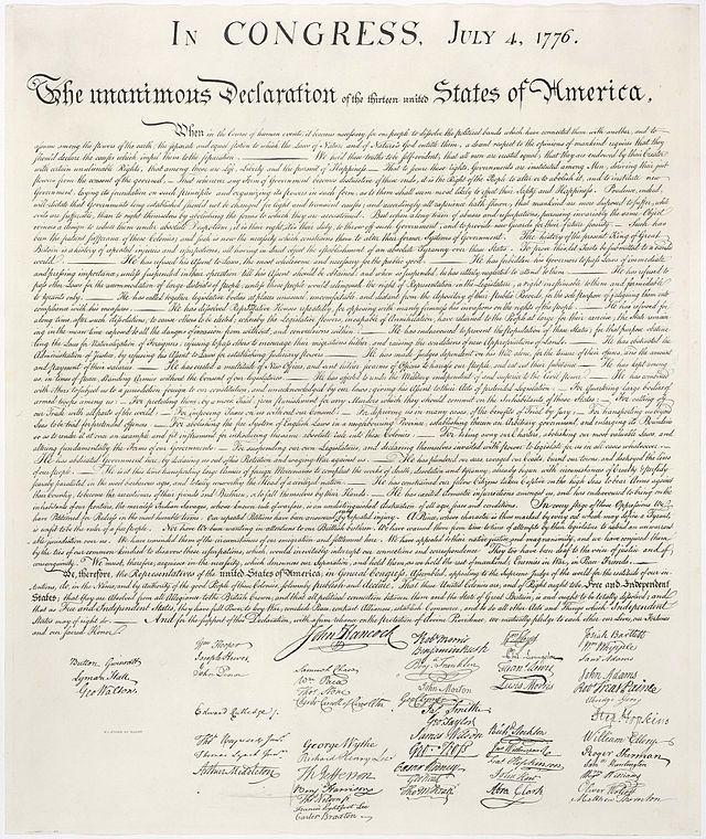 JAV nepriklausomybės deklaracija