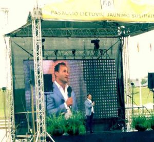 Dr. Andy Khawaja in World Lithuanian Youth meeting
