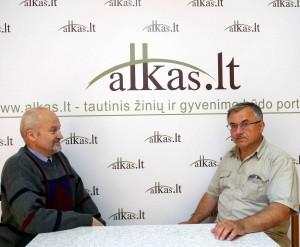 Gintaras Songaila ir Alkas.lt  vyr. redaktorius Jonas Vaiškūnas | Alkas.lt nuotr.otr.