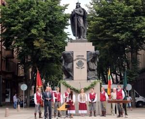 Kaune paminėtos Žalgirio mūšio 604-osios metinės | Kaunas.lt nuotr.