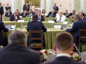 D. Grybauskaitė dalyvavo Višegrado bei Bulgarijos ir Rumunijos Prezidentų susitikime | lrp.lt, R.Dačkaus nuotr.