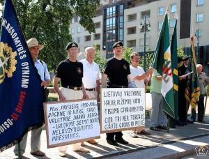 Piketas prie Seimo reikalaujant apginti valstybinę kalbą ir Lietuvos teritorinį vientisumą | J.Česnavičiaus nuotr.