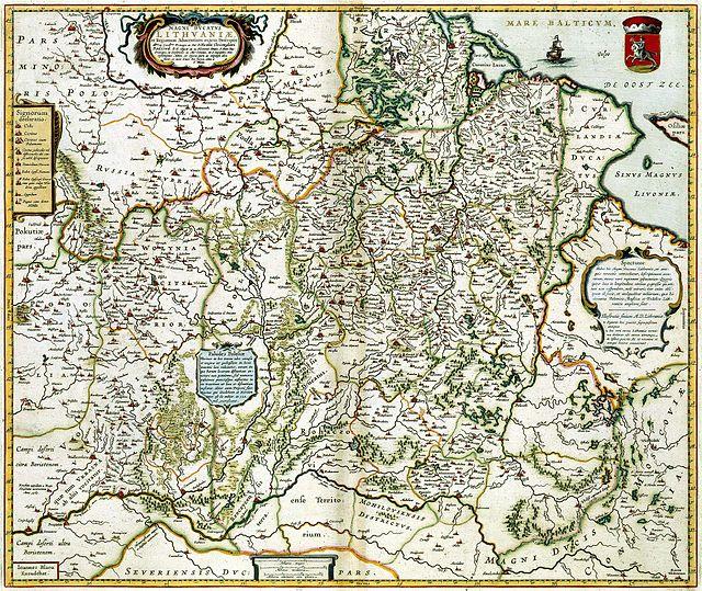 M.K.Radvila,1613m. LDK žemėlapis | lt.wikipedija. org nuotr.