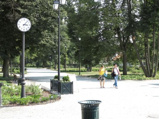 Naujausias Bernardinų sodo laikrodis. Vilniaus sav. nuotr.