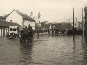 Potvynis Vilniuje. 1931 m. E.Zdanovskio nuotr.