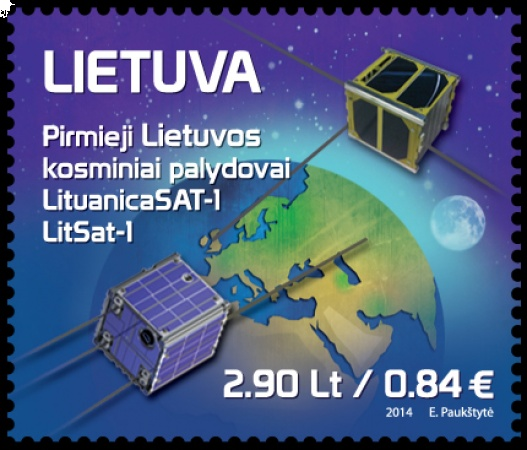 Lietuviški palydovai ant pašto ženklo