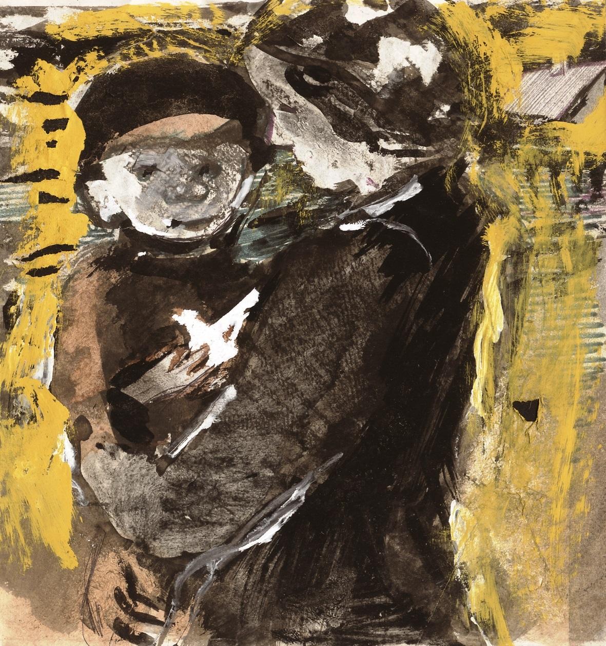 """Z.Varnauskas.1980m. iš ciklo """"Motina ir vaikas"""""""