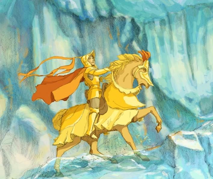 """Animacinis filmas """"Aukso žirgas"""""""
