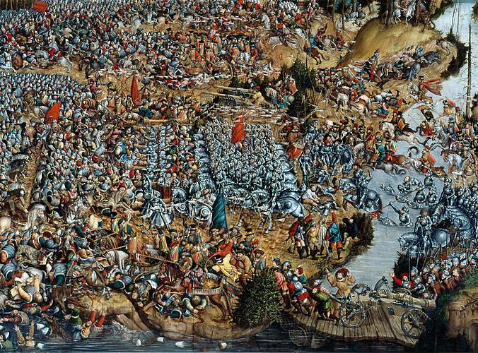 """""""Oršos mūšis"""", paveikslas iš Varšuvos nac. muziejaus"""