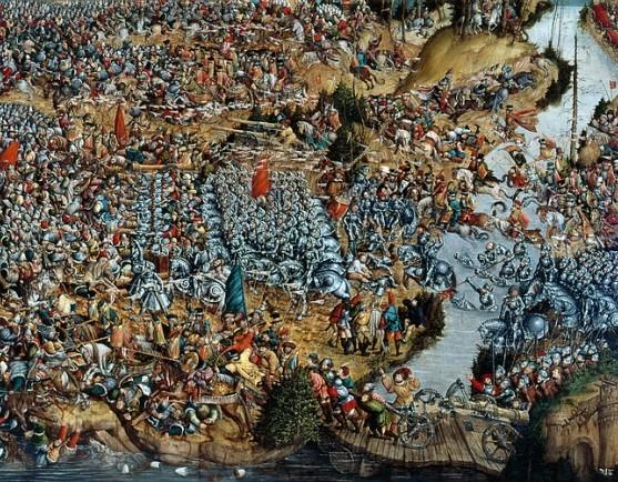 Oršos mūšio paveikslas. 1524-1530m. Autorius nezžnomas
