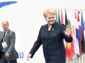 D. Grybauskaitė Milano konferencijoje | lrp.lt, R. Dačkaus nuotr.