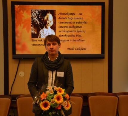 Donatas Kriukas – M.Lukšienės premijos laimėtojas | smm.lt nuotr.