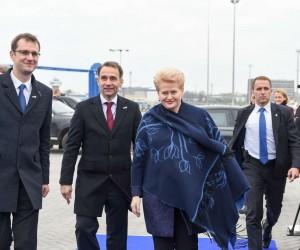 Prezidentė Dalia Grybauskaitė sutinka SGD Klaipėdoje | lrp.lt, R. Dačkaus nuotr.