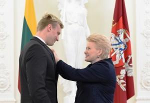 D. Grybauskaitė pagerbė geriausius šalies sportininkus ir jų trenerius | lrp.lt, R. Dačkaus nuotr.