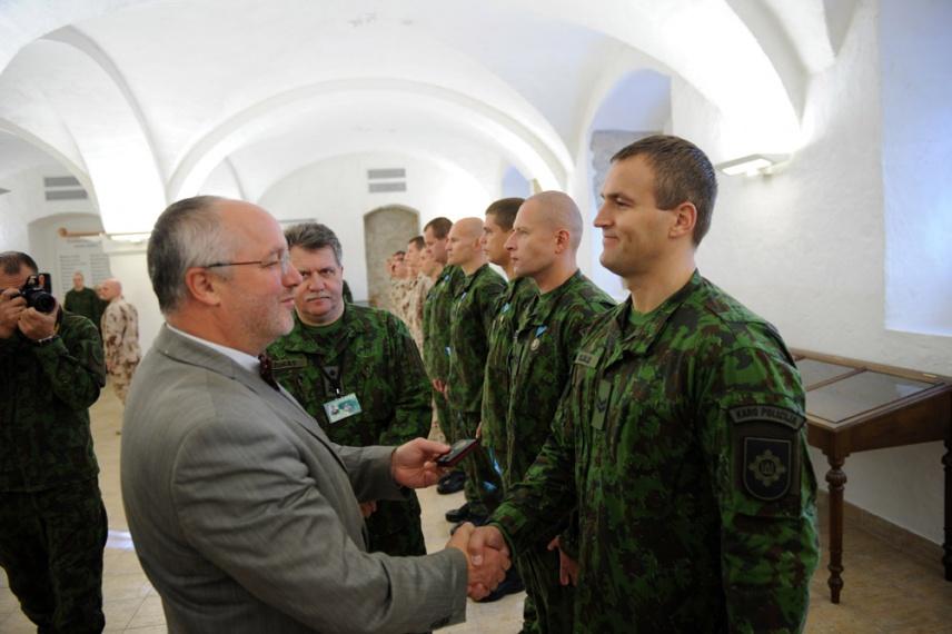 Po misijos Afganistane sutiktos dvi karių pamainos    kam.lt, A. Pliadžio nuotr.
