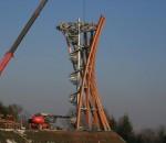 Naujas apžvalgos bokštas kyla šalia Metelių ežero | Metelių regioninio parko direkcijos nuotr.