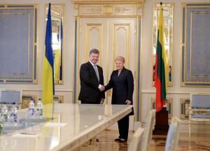 Petro Porošenko ir Dalia Grybauskaitė | lrp.lt nuotr.