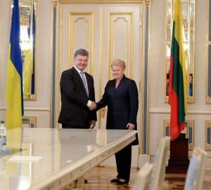 Petro Porošenko ir Dalia Grybauskaitė | lrp.lt nuotr