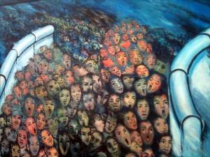 Berlyno sienos tapybos fragmentas | D. Špučio nuotr.