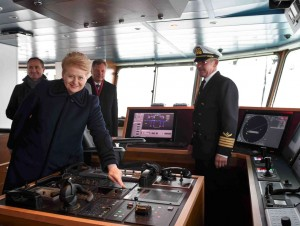 "Prezidentė D. Gryvbauskaitė laive ""Mintis"" | lrp.lt, R. Dačkaus nuotr."