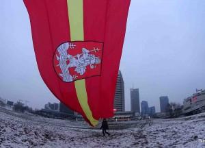 Vilniaus miesto vėliava | M. Abramavičiaus-Neboisia nuotr.