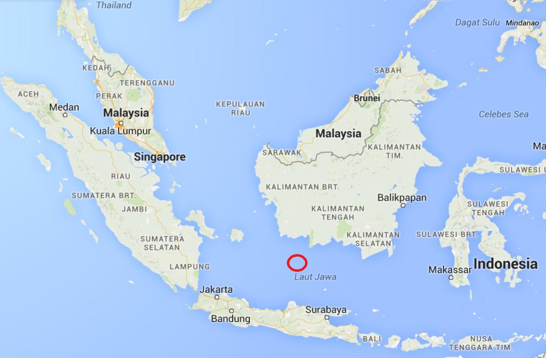 Pažymėta vieta, kur buvo surastos lėktuvo katastrofos nuolaužos