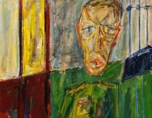 Kareiviškas autoportretas, 1987, kart., al., 100x75,5 cm MMC nuosavybė