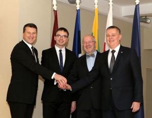 Baltijos šalių ir Lenkijos gynybos ministrai  | kam.lt, G. Dieziņš nuotr.