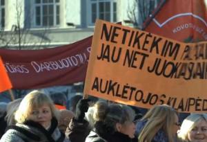 Mokytojų streikas | penki.tv stop kadras