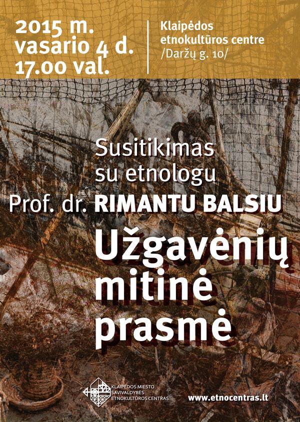 Susitikimas su etnologu Klaipėdos etnokultūros centre