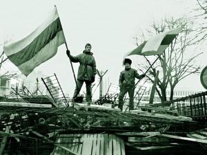 Seimo gynėjai, 1991 m. | V. Daraškevičiaus nuotr.
