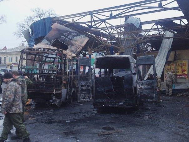 Donecko autobusų stoties apšaudymas |vk.com/donetskvk nuotr.